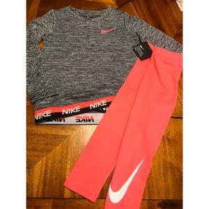 *NWT* Toddler Girls Nike Graphic Tee/Leggings Set